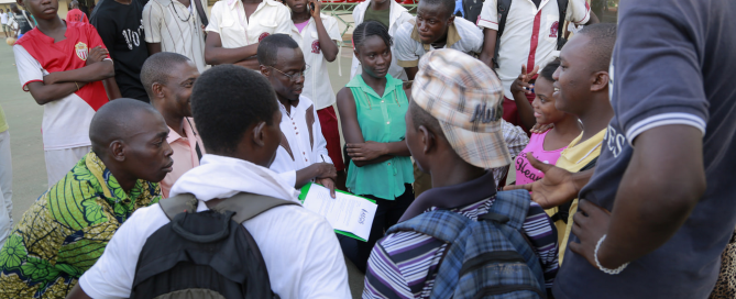 Aegis provides peacebuilding training to young people in Bangui, CAR, May 2015