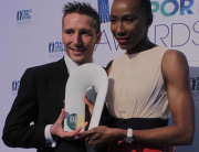 Rob Young is made Peace and Sport Champion of the Year 2015 at awards ceremony in Monte Carlo following international online public vote, 26 Nov 2015