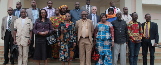 Central African Delegation hosted by Aegis in Kigali, January 2016