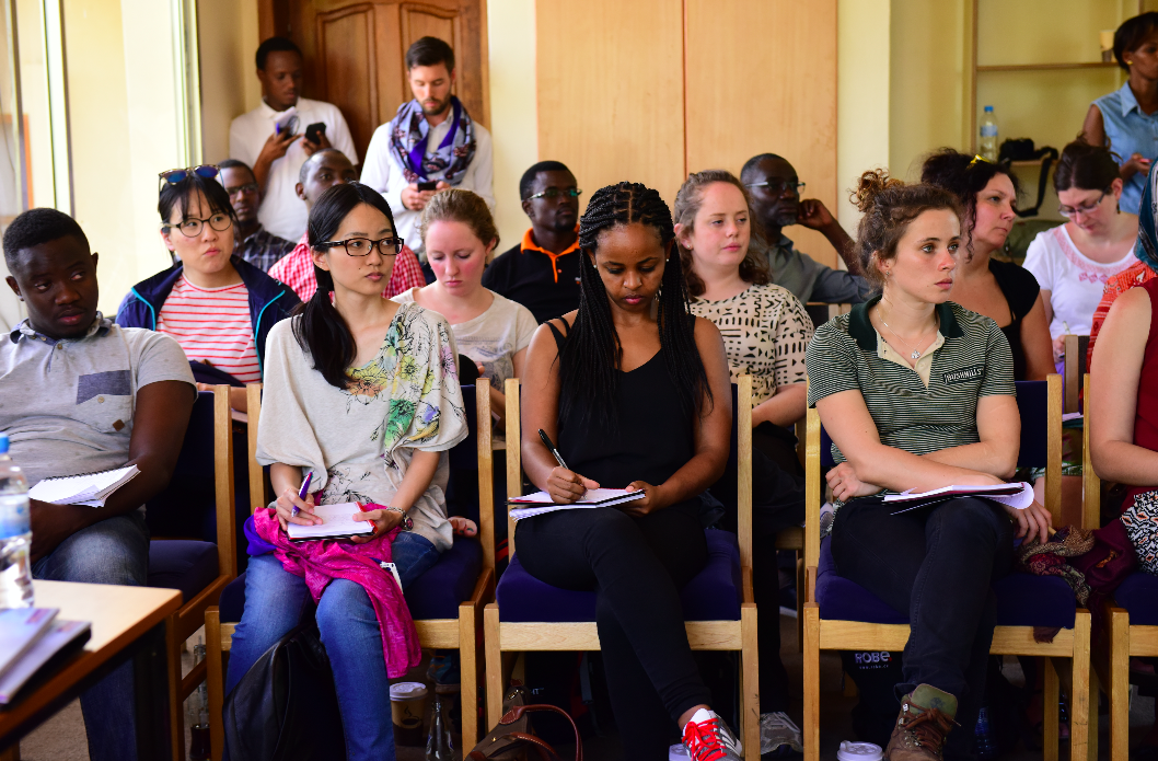 Students from University of Manchester attend workshop at Kigali Genocide Memorial, Jan 2016