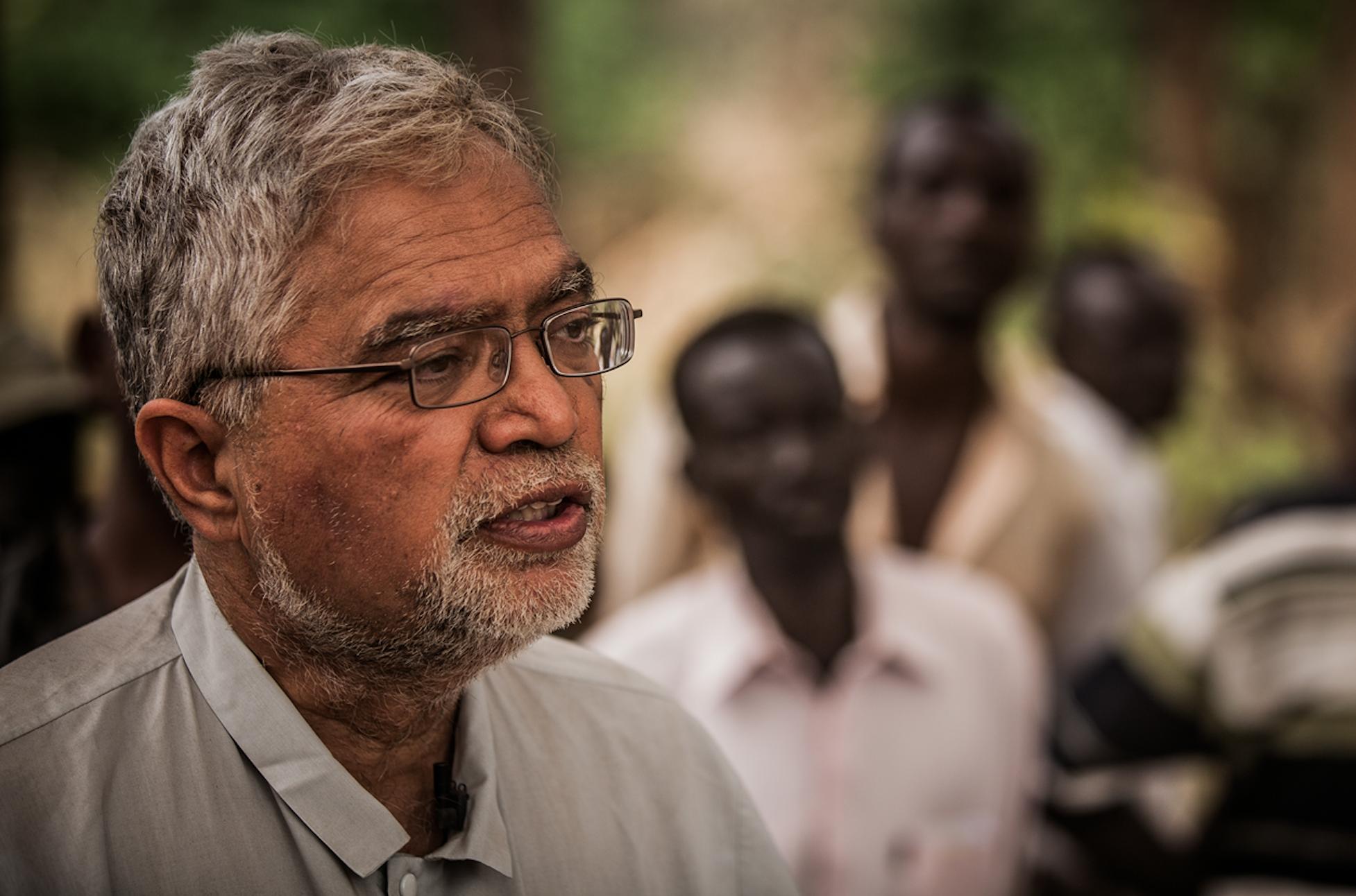 Former UN Sudan Chief Mukesh Kapila, visiting Sudan's forgotten warzones in 2013
