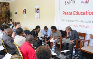 Aegis Peace Education Colloquium, Day Two, Kigali Genocide Memorial