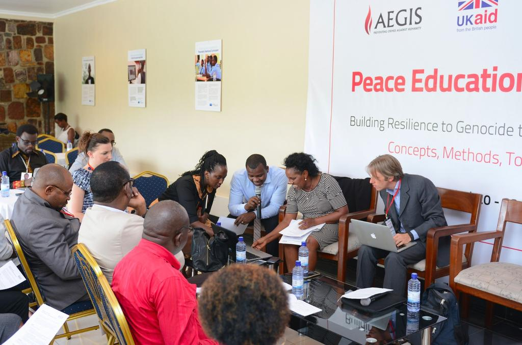 Aegis Peace Education Colloquium, Day Two, Kigali Genocide Memorial