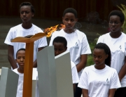 Flame of Remembrance at the Kigali Genocide Memorial, 2016