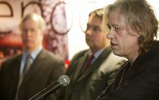 Aegis Patron Sir Bob Geldof has today returned Dublin honour in protest that it's shared by Aung San Suu Kyi (picture: Aegis Trust)