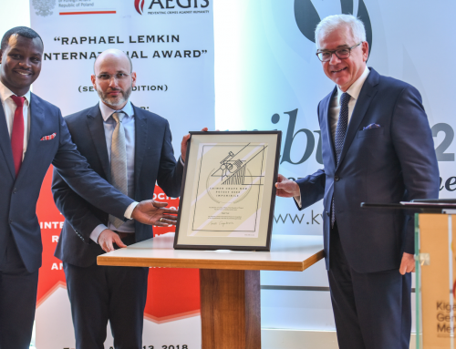 Aegis Trust Receives the Raphael Lemkin International Award