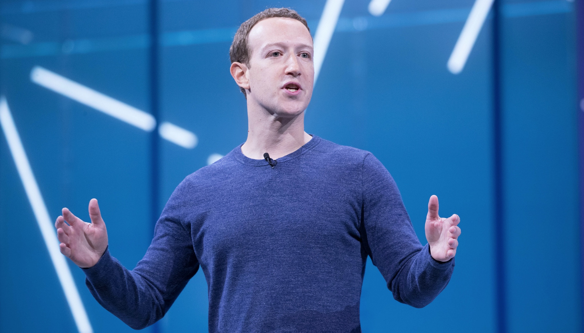 Mark Zuckerberg F8 2018 Keynote. This image was originally posted to Flickr by Anthony Quintano at https://flickr.com/photos/22882274@N04/41118886324. Published here under Creative Commons (CC BY 2.0) https://creativecommons.org/licenses/by/2.0/