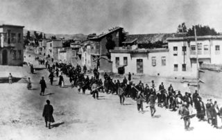 Armenians being marched to an execution site in 1915. US President Joe Biden has now recognised the Armenian Genocide