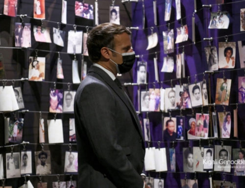 French President pays respects at the Kigali Genocide Memorial