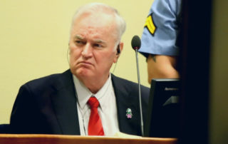 22 November 2017 - Ratko Mladić, former commander of the Bosnian Serb Army, at his trial judgement at the ICTY - CC BY 2.0