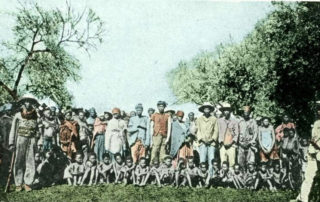 Prisoners being held by German forces in South West Africa during the Genocide against the Herero and Nama, 1904. Source: Bundesarchiv, CC BY SA 3.0