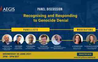 Panel discussion - recognising and responding to Genocide denial