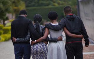 Children of genocide survivors remember at the Kigali Genocide Memorial.