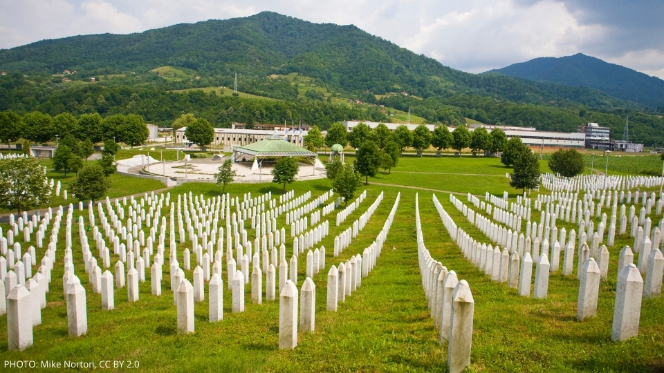 Srebrenica Genocide Memorial, photographed by Mike Norton, 18 June 2018 (CC BY 2.0) https://www.flickr.com/photos/mtnorton/43550402932